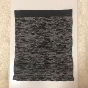 Black & Silver Bodycon Skirt